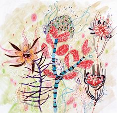 PRINT Floral Illustration 'Fulfillment' by LeilaFannerStudio, $35.00