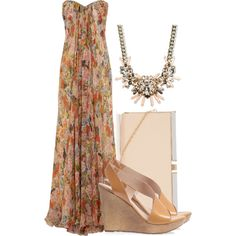"""Floor Length Florals"" by jessica-allman on Polyvore"