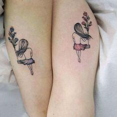 Cousin Tattoos, Small Sister Tattoos, Sister Tattoo Designs, Bestie Tattoo, Sibling Tattoos, Matching Sister Tattoos, Bff Tattoos, Infinity Tattoos, Best Friend Tattoos
