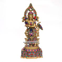 Buy wide range of brass idols and statues of Hindu gods, ideal for your puja room also finds metal figurines for decorating your home at Tarangarts.com. Tanjore Painting, Krishna Painting, Metal Figurines, Puja Room, Brass Statues, Painting Gallery, Lord Krishna, Decorating Your Home, Sculptures