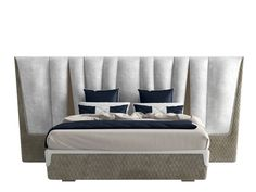 Double bed with upholstered headboard MAJESTIC XL by Capital Collection Modern Master Bedroom, Bedroom Bed Design, Bedroom Ideas, Sofa Furniture, Furniture Design, Bed Back Design, Headboard Makeover, Bunk Bed Plans, Bunk Beds