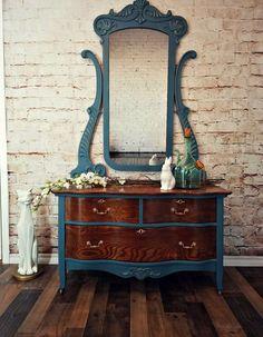 SOLD** dresser and mirror – Furniture Makeover Paint Furniture, Furniture Projects, Furniture Makeover, Cool Furniture, Dresser Furniture, Furniture Websites, Furniture Dolly, Furniture Market, Inexpensive Furniture
