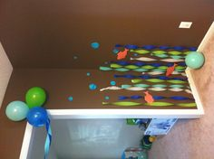 under the sea party decorations nice and easy Boys First Birthday Party Ideas, 4th Birthday Parties, 1st Boy Birthday, Under The Sea Party, Baby Shower, Thing 1, Baby Shark, Shark Party, Super Party