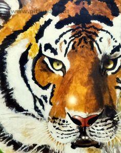 quadro realizzato dal pittore contemporaneo ANGELAIMPAGLIAZZO - Tiger