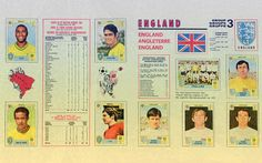 England Players from the Mexico '70 World Cup on display at the Panini World Cup Wall of Wonder