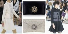 Chanel with Wilbur & Gussie clutch bags! Black Classic and Silver Glitter