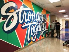 It's been an honor and a pleasure creating pieces & painting some murals this month for the @miamidolphins What a way to start the year off. Be sure to check out the snap for bits of last night. Have a great Sunday. #snap #friks_84 #strongertogether by friks84