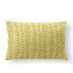 e6148a1272d4 Hand Knit Yellow Pillow by Emeline Tate-Robertson (projectm) from $27.00
