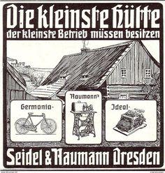 Original-Werbung/Anzeige 1907 - SCHREIBMASCHINEN / NÄHMASCHINEN / FAHRRÄDER SEIDEL & NAUMANN - DRESDEN - Ca. 90 X 90 Mm - Werbung
