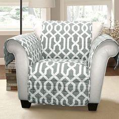 Edward Trellis Gray Armchair Furniture Protector