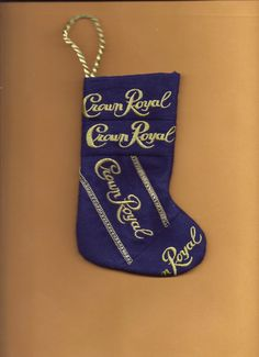 Crown Royal Christmas stocking small handmade by wnmil410 on Etsy, $8.95