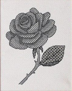 Rose Blackwork Kit by XCalibre by EmbellishedDelights on Etsy, $21.00