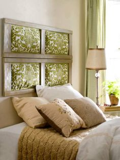 37 Super chic DIY headboard ideas. This is cool except I think I would make it look like a real window.