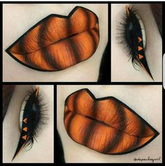 Halloween chic 🎃 used on lips and for detail on eyeliner 🍂 Tag for a chance to be featured! Halloween Chic, Halloween Eye Makeup, Halloween Looks, Holiday Makeup, Halloween Pumpkin Makeup, Halloween Costumes, Makeup Fx, Artist Makeup, Goth Makeup
