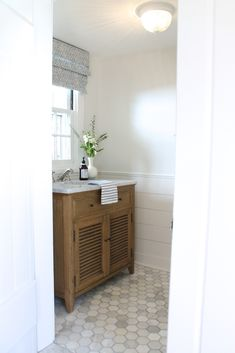 the picket fence projects: The powder room: (pretty much) ready for its reveal