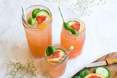 Grapefruit basilicum mocktail