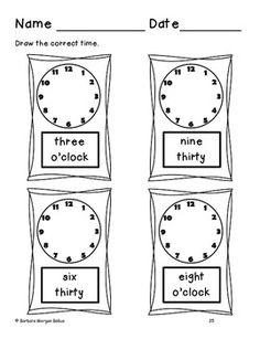 First Grade Math {Frog Math} Time and Money