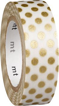 Gold Dot Washi Tape, might come in handy with decorating votives.