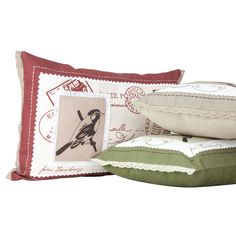 Shabby chic cushion cover in 3 colours from V Living