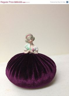 Antique Pincushion Dolls | BLACK FRIDAY SALE Antique Half Doll Emery Pincushion by NAKPUNAR, $51 ...