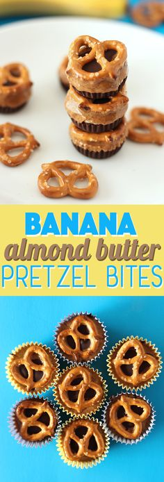 Nutty, fruity, chocolatey, crunchy.. all words to describe these incredibly easy banana almond butter pretzel bites! Made with simple ingredients for a delicious clean eating snack!