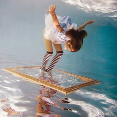 These beautiful photos taken by photographer Elena Kalis of her daughter dressed as Alice in Wonderland will have you mesmerized. - Trippy Underwater Alice in Wonderland Photos Under The Water, Water Photography, Creative Photography, Street Photography, Film Photography, Fashion Photography, Amazing Photography, Whimsical Photography, Landscape Photography