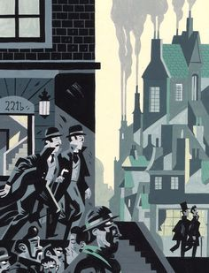 Sherlock Holmes- The Hounds of the Baskervilles by Arthur Conan Doyle. Illustration by Javier Olivares. #sherlockholmes #fanart