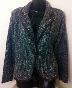 New - Womens Monsoon Grey Knitted Large Button Jacket Size 16 - £14.95
