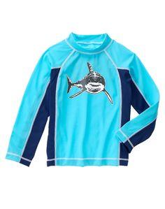 NWT Gymboree Shark Rash Guard Swim Shirt OR Shark Stripe Board Short Trunks NEW