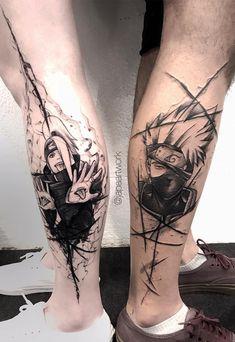 47 Romantic Valentine's Day Matching Couple Tattoos Ideas - Valentine's Day Matching Couple Tattoos Ideas; Naruto Tattoo, Manga Tattoo, Dope Tattoos, Dream Tattoos, Body Art Tattoos, Sleeve Tattoos, Tatoos, Naruto Kakashi, Anime Naruto
