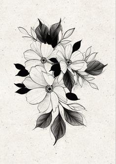 Floral Tattoo Design, Mandala Tattoo Design, Tattoo Design Drawings, Flower Tattoo Designs, Flower Tattoos, Unique Butterfly Tattoos, Ink Tattoo, Plant Tattoo, Delicate Tattoo