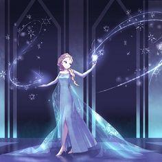 Tags: Anime, Lipstick, Blue Dress, Disney, Pink Lips, Frozen (Disney), Elsa the Snow Queen
