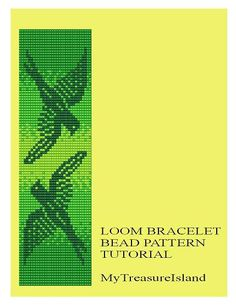 For sale is Bead Loom Flying Birds Design in Gradient Orange, Violet and Green Colors Bracelet Patterns in PDF format.    For these designs I
