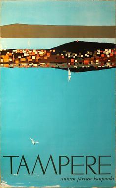 Poster: Tampere - Finland 1961 Artist: Kimmo Kaivanto