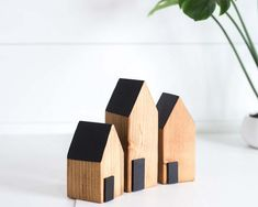 Rustic Farmhouse Decor WOODEN HOUSES, Decorative Wooden house decoration (Set of three) house blocks Rustic Farmhouse Decor WOODEN HOUSES, Decorative Wooden house decoration (Set of three) Wood Block Crafts, Barn Wood Crafts, Scrap Wood Projects, Driftwood Crafts, Small Wooden House, Wooden Cottage, Wooden Houses, Wooden House Decoration, Rustic Farmhouse Decor