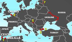 European fences: Map shows continent's desperate bid to stem flow of migrants | World | News | Daily Express
