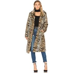 MAJORELLE Fifi Faux Fur Coat ($245) ❤ liked on Polyvore featuring outerwear, coats, coats & jackets, leopard coat, fake fur coats, majorelle, imitation fur coats and leopard faux fur coat
