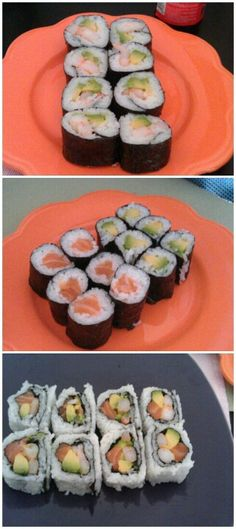 Sushi made by myself.