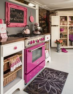 Pretty in Pink! Love these Bluestar kitchens?Use our cool interactive tool to 'Build your own BlueStar Range' and dream kitchen today!