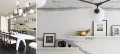 love the marble against the grey wood - Projets DLM Damien Langlois-Meurinne