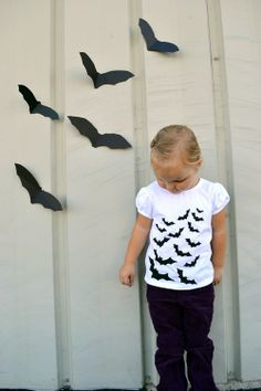 another adorable halloween craft - make your own bat pattern t shirt