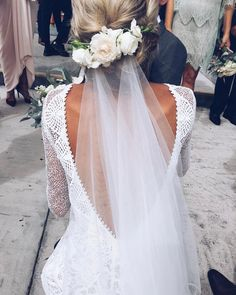 Browse our stunning elixir clothing now. Grace Loves Lace artfully crafts wedding gown designs using the finest European laces & silks for a new generation of bride. Veil Hairstyles, Wedding Hairstyles With Veil, Bridal Hairstyles, Wedding Hairdos, Simple Hairstyles, Hairstyles 2018, Grace Loves Lace, Perfect Wedding, Dream Wedding