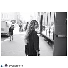 """#Repost @oyuelaphoto with @repostapp. ・・・ The hair and the girl @mabelmoreno1 Photographed in midtown #oyuelaphoto @evansudarsky"""