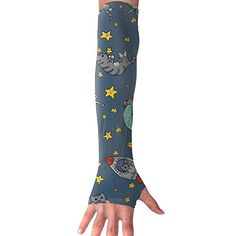 Huadduo Astro Cats Women Outdoor Sun Block Soft Long Arm Sleeve Fingerless Gloves Outdoor Woman, Types Of Fashion Styles, Catwoman, Fingerless Gloves, Arm Warmers, Rubber Rain Boots, Arms, Sun, Sleeves