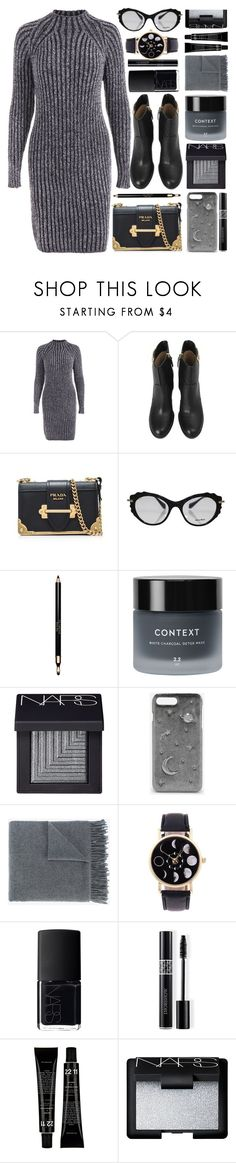 """""""Sharp"""" by monmondefou ❤ liked on Polyvore featuring Clarins, Context, NARS Cosmetics, CHARLES & KEITH, Acne Studios, Christian Dior, black and gray"""