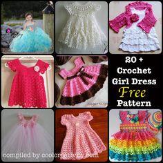 20 + Crochet Girl Dress with Free Pattern