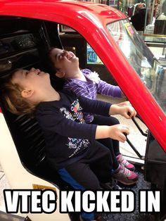 Car meme. Vtec Honda civic Muscle car
