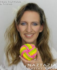 Learn How To Crochet and Knit - Chinese Knot Inspired Ball Scrubbies with YouTube Video by Naztazia
