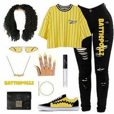 cute outfits to wear Baddie Outfits Casual, Boujee Outfits, Teen Fashion Outfits, Dope Outfits, Girly Outfits, Grunge Outfits, Look Fashion, Swag Fashion, Casual Teen Fashion