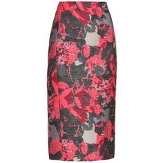 Antonio Berardi Floral-jacquard pencil skirt